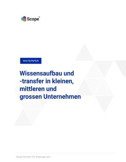 Whitepaper Wissensaufbau und Wissenstransfer in kleinen mittleren und grossen Unternehmen