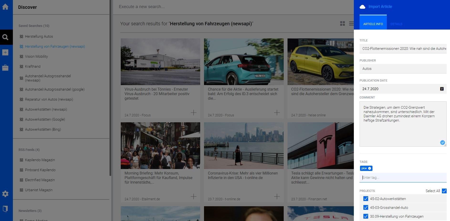 scope tool kuratierte inhalte content curation