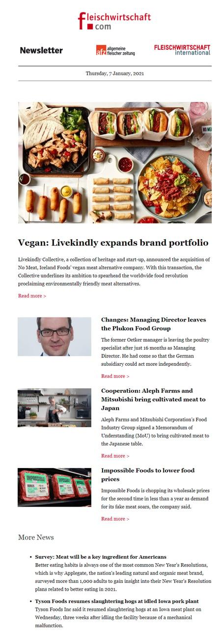 newsletter fleischwirtschaft