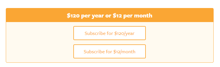 paid newsletter subscription